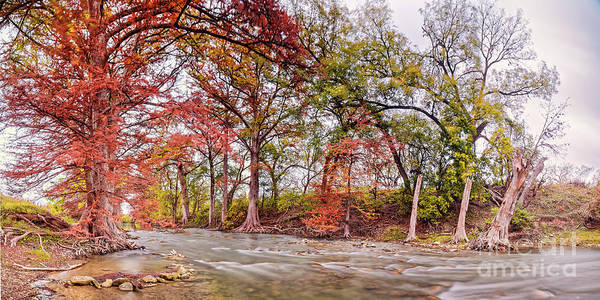 Photograph - The Guadalupe River As It Makes Its Way Through James Kiehl River Bend Park - Comfort Texas Hills by Silvio Ligutti