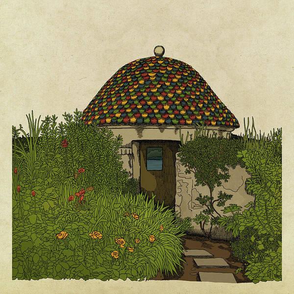 Garden Drawing - The Guard House by Meg Shearer