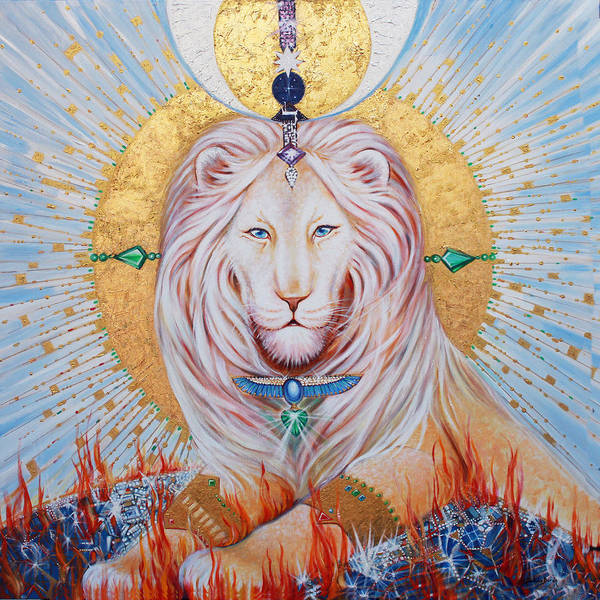 Endless Love Painting - The Guardian Of Wisdom by Silvia  Duran