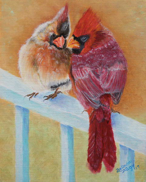 Mate For Life Painting - The Guardians by Belinda Nagy