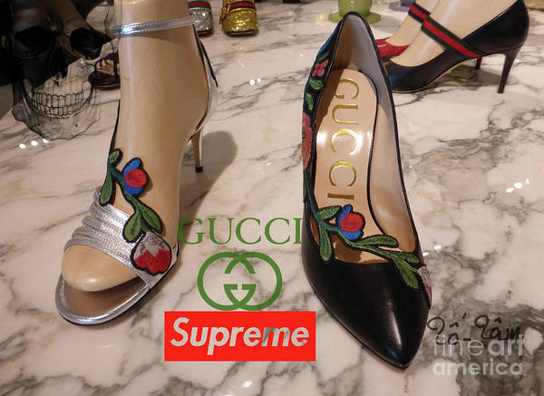 Jimmy Choo Digital Art - The Gucci Supreme Shoes 5 by To-Tam Gerwe