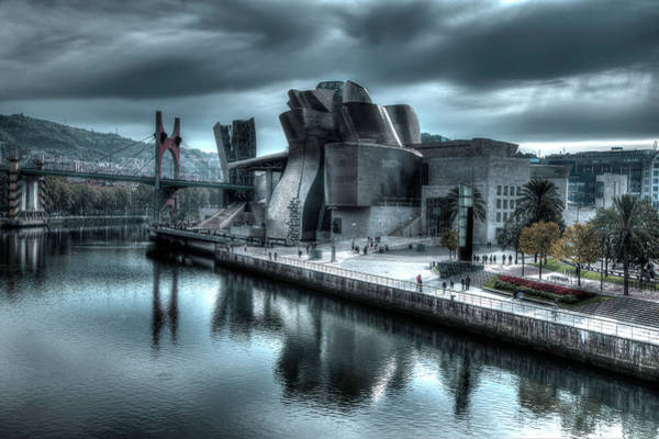 Photograph - The Guggenheim Museum Bilbao Surreal by Andy Myatt