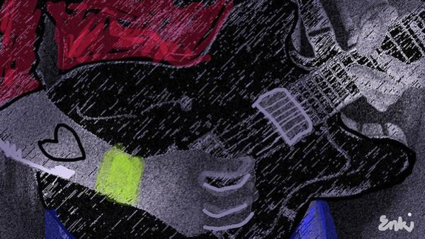 Axeman Wall Art - Mixed Media - The Guitarist  by Enki Art