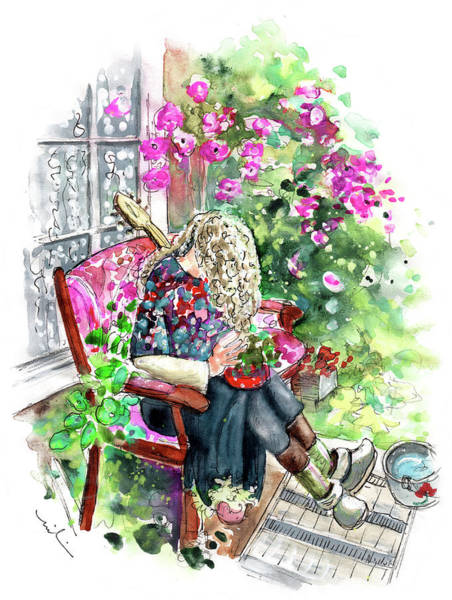 Painting - The Guitarist From Machynlleth by Miki De Goodaboom