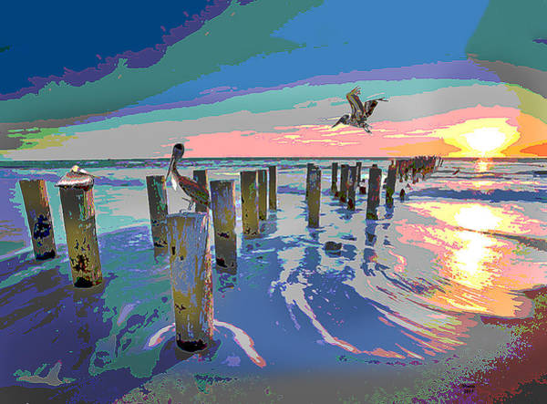 Pelican Mixed Media - The Gulf Coast by Charles Shoup