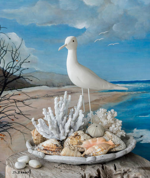 Broom Mixed Media - The Gull by Dawn Broom