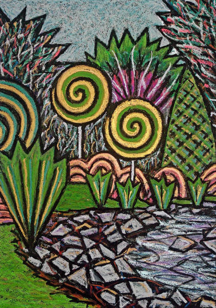Oil Pastels Drawing - The Gully-lefthanded by Bruce Bodden