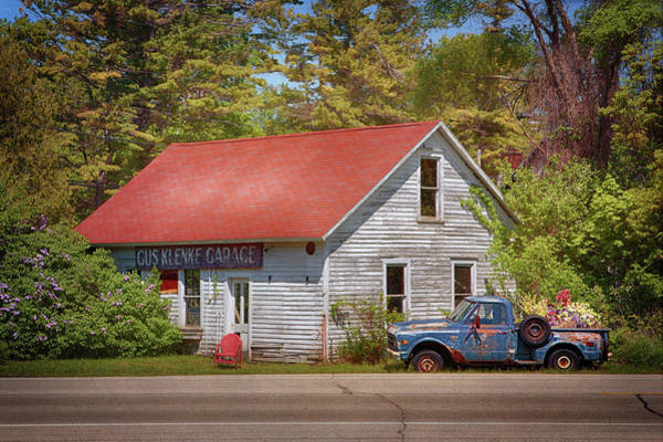 Photograph - The Gus Klenke Garage by Susan Rissi Tregoning
