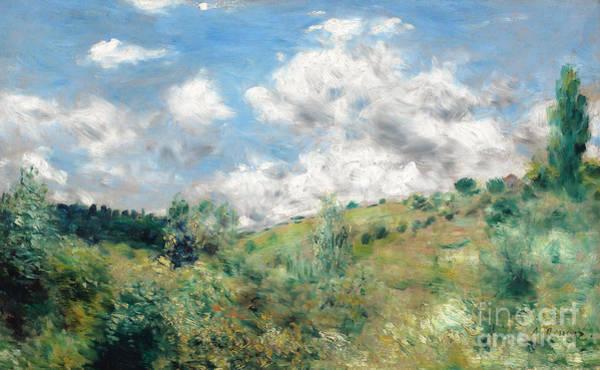 Moored Painting - The Gust Of Wind by Pierre Auguste Renoir