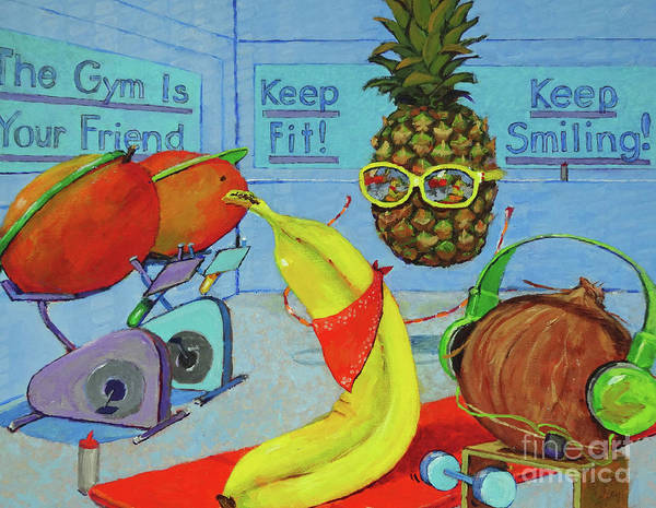 Painting - The Gym Is Your Friend by Joan Coffey