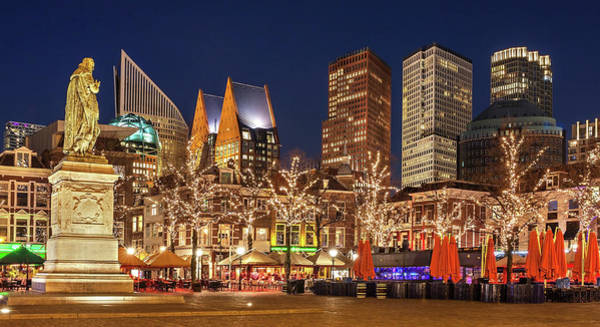 Photograph - The Hague Skyline From The Plein by Barry O Carroll