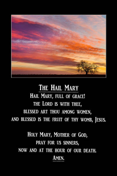 Photograph - The Hail Mary Prayer by James BO Insogna