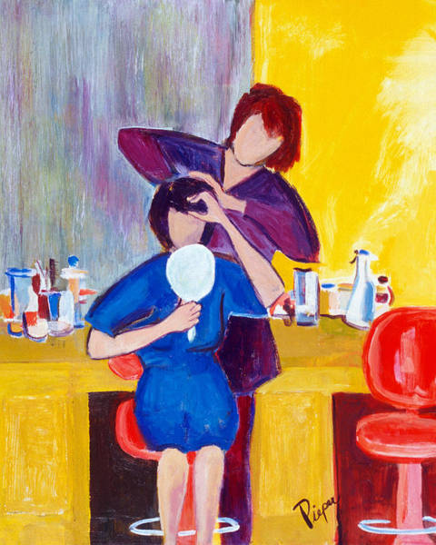 Beauty Salon Painting - The Hair Dresser by Betty Pieper