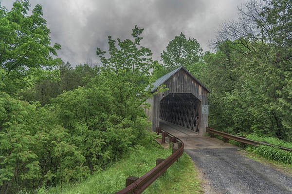 Photograph - The Halpin Covered Bridge by Guy Whiteley
