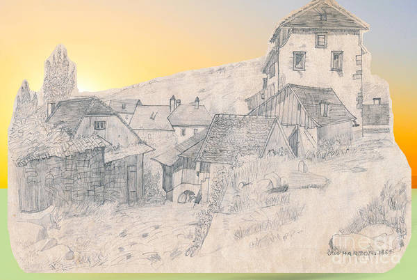 Drawing - The Hamlet James Wharton by Donna L Munro