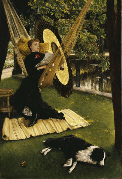 Woman Reading Wall Art - Painting - The Hammock by James Jacques Joseph Tissot