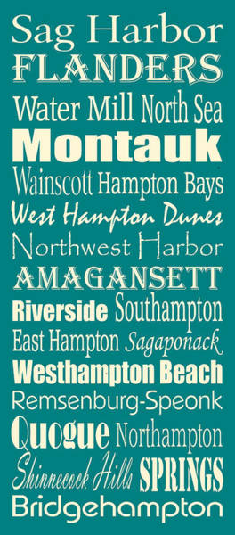 West Bay Digital Art - The Hamptons by Trudy Clementine