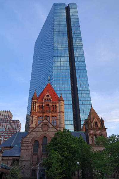 Photograph - The Hancock Over The Trinity Church Boston Ma by Toby McGuire