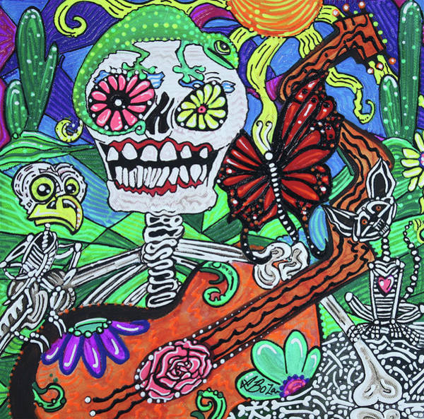 Wall Art - Painting - The Happy Dead by Laura Barbosa