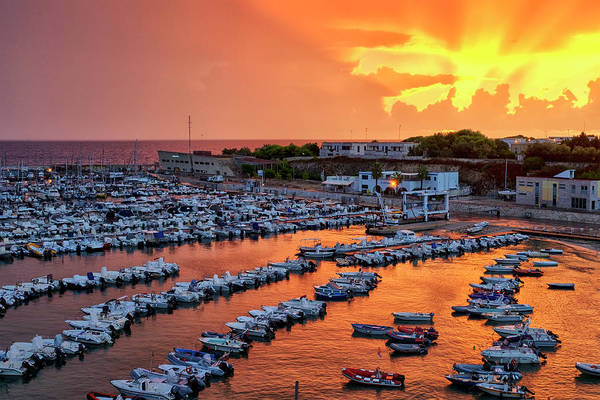 Photograph - The Harbour Of Otranto  by Fabrizio Troiani