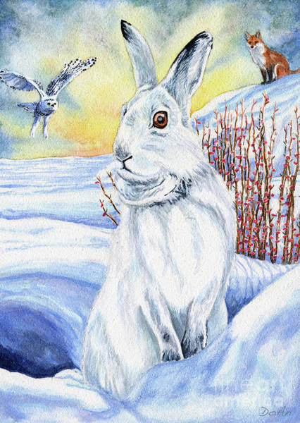 Rebirth Wall Art - Painting - The Hare Fear Creativity And Rebirth by Antony Galbraith