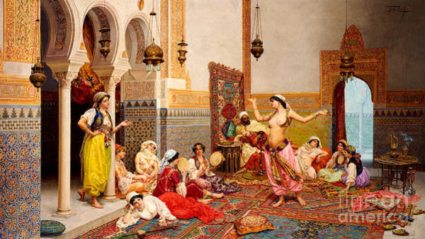 Bells Painting - The Harem Dance by Giulio Rosati