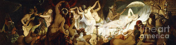 Wall Art - Painting - The Harem by Hans Makart