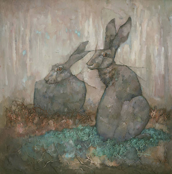 Wall Art - Painting - The Hare's Den by Steve Mitchell