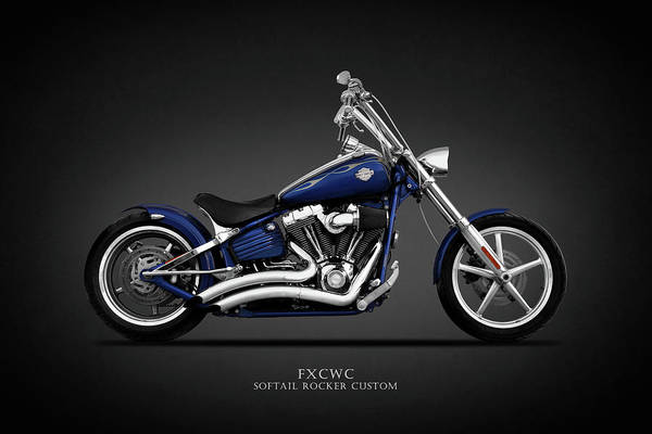 Chopper Photograph - The Harley Fxcwc by Mark Rogan