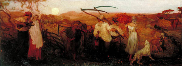 Painting - The Harvest Moon  by George Mason