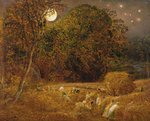 Painting - The Harvest Moon by Samuel Palmer