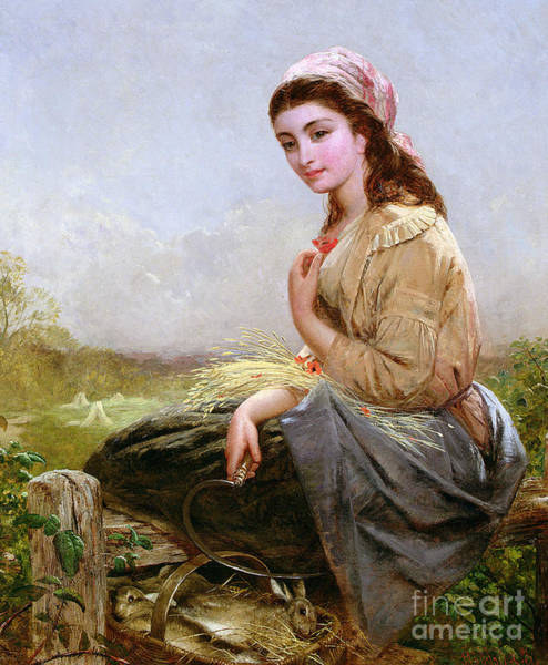 Harvesting Wall Art - Painting - The Harvester by Edward John Cobbett