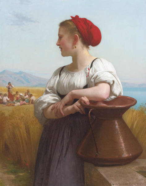Painting - The Harvester by William-Adolphe Bouguereau