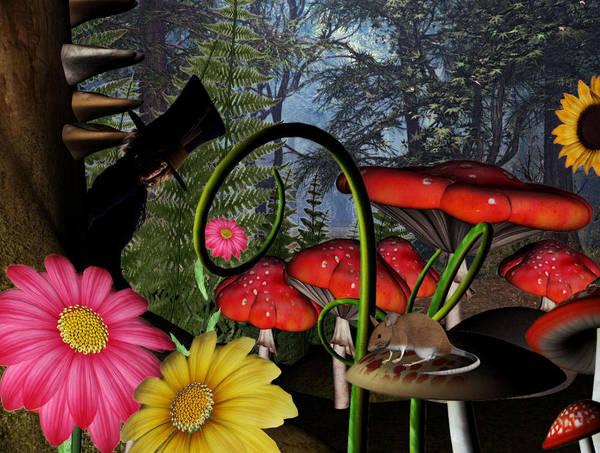Wall Art - Digital Art - The Hatter  by Lisa Roy
