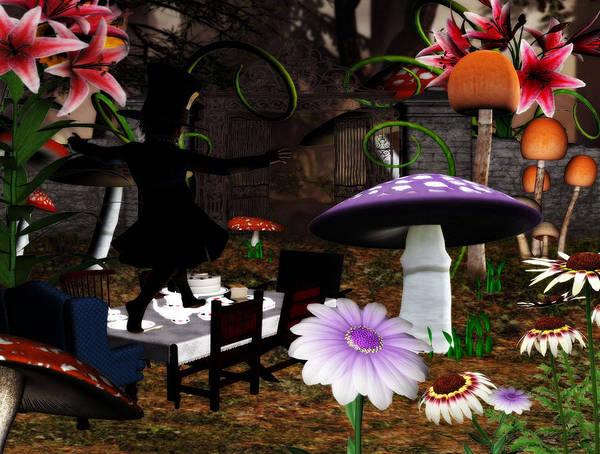 Wall Art - Digital Art - The Hatter Tea by Lisa Roy