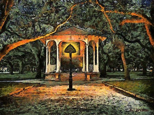 Painting - The Haunted Gazebo by RC DeWinter