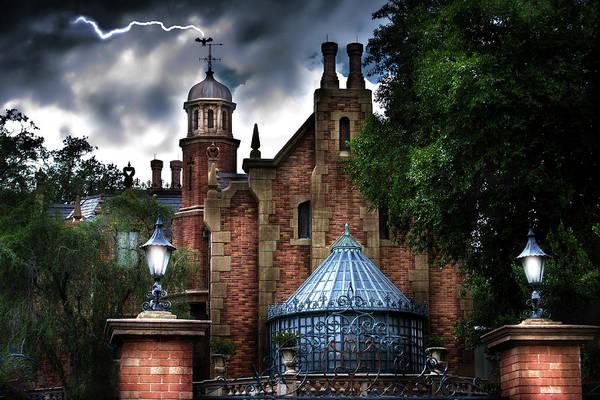 Magic Kingdom Photograph - The Haunted Mansion by Mark Andrew Thomas