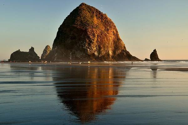 Photograph - The Hay Stack At Cannon Beach by Walt Sterneman