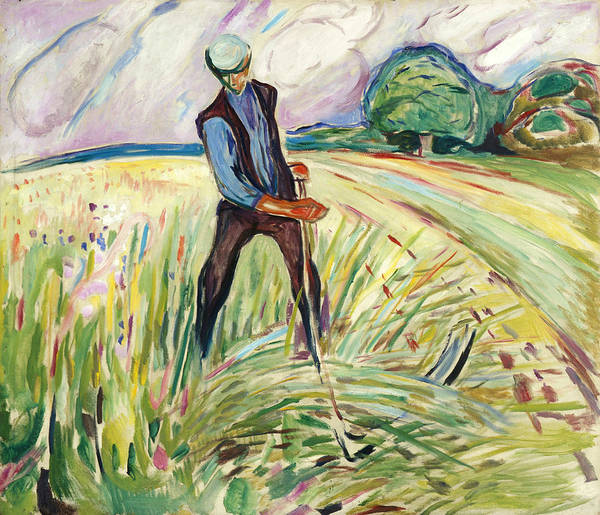 Norwegian Painting - The Haymaker by Edvard Munch