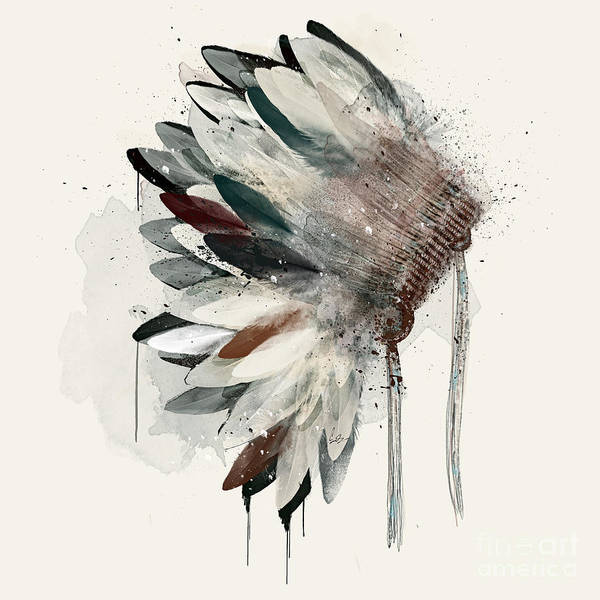 Feather Painting - The Headdress by Bri Buckley