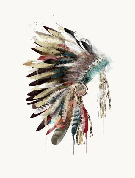 American Indians Painting - The Headdress by Bri Buckley