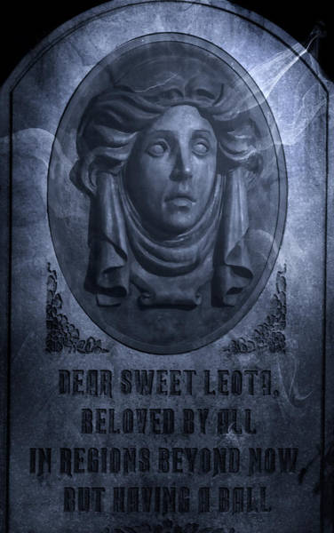 Disney World Photograph - The Headstone Of Madame Leota by Mark Andrew Thomas
