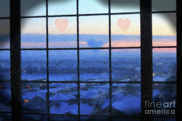 Digital Art - The Heart Cloud by Donna L Munro