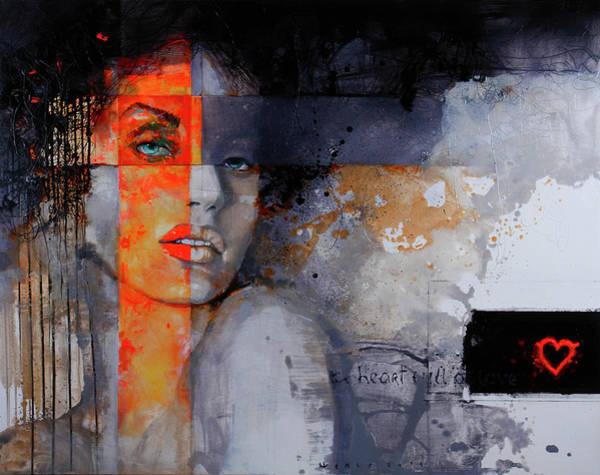 Wall Art - Painting - The Heart Full Of Love by Viktor Sheleg