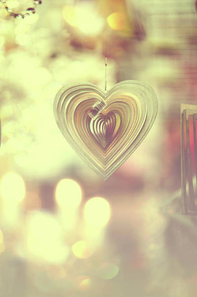 Rights-managed Wall Art - Photograph - The Heart. Golden by Jenny Rainbow