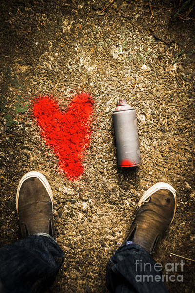 Symbol Photograph - The Heart Of A Vandal by Jorgo Photography - Wall Art Gallery
