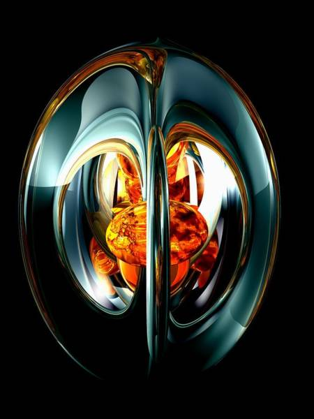 Vibrations Digital Art - The Heart Of Chaos Abstract by Alexander Butler