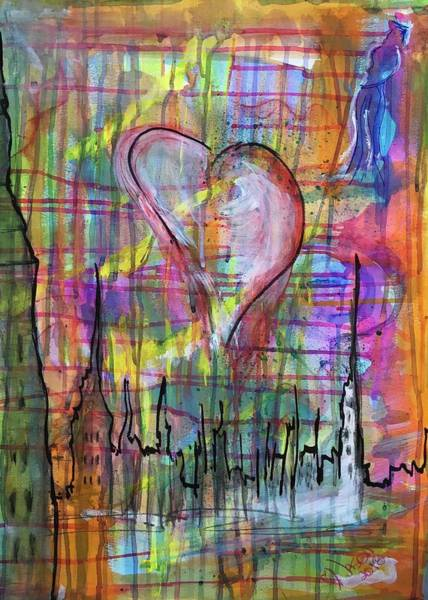 Mixed Media - The Heart Of The City by Jason Nicholas