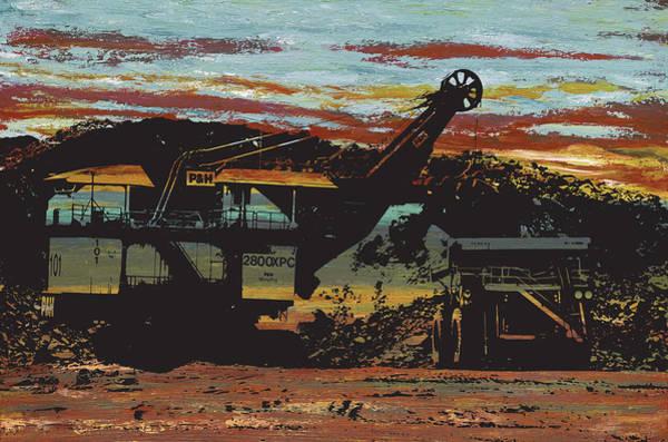 Dump Truck Digital Art - The Heart Of The Iron Range by Desiree Roush