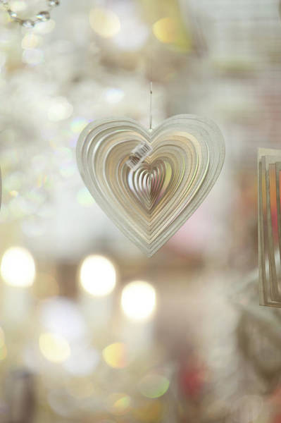Rights-managed Wall Art - Photograph - The Heart. Pearly by Jenny Rainbow